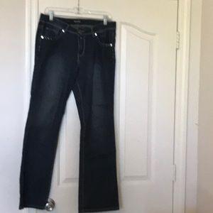 Dark denim perfect stretch jeans, average fit